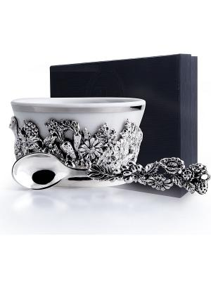 Набор для специй Натюрморт черненый пр.925+футляр АргентА. Цвет: серебристый