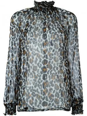 Блузка с высоким воротником leopard Marco Bologna. Цвет: чёрный