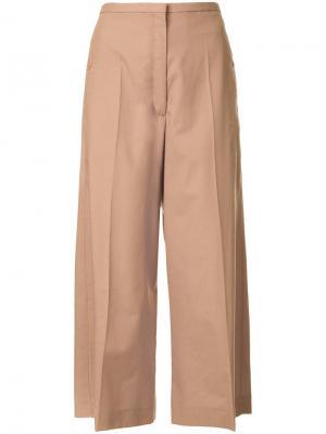 Укороченные брюки Lemaire. Цвет: коричневый