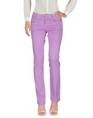Повседневные брюки PIRELLI PZERO. Цвет: светло-фиолетовый