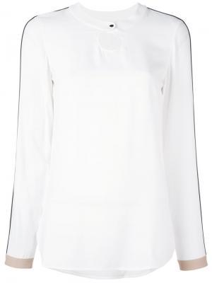 Блузка с длинными рукавами Akris Punto. Цвет: белый