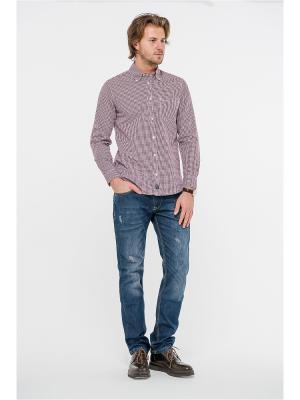 Рубашка Westrenger. Цвет: коричневый