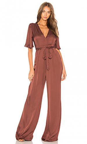 Пляжный костюм с широкими брюками ella ASTR. Цвет: красный