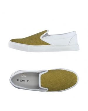 Низкие кеды и кроссовки EXIBIT. Цвет: кислотно-зеленый