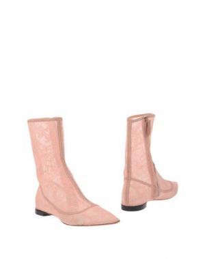 Полусапоги и высокие ботинки ROCHAS. Цвет: розовый