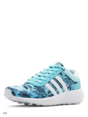Кроссовки CLOUDFOAM RACE W  CLAQUA/FTWWHT/CONAVY Adidas. Цвет: голубой, белый