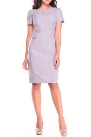 Платье Dioni. Цвет: серый