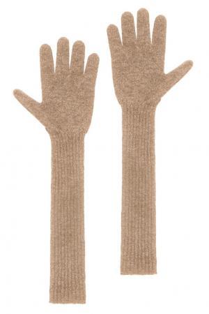 Кашемировые перчатки Tegin. Цвет: бежевый