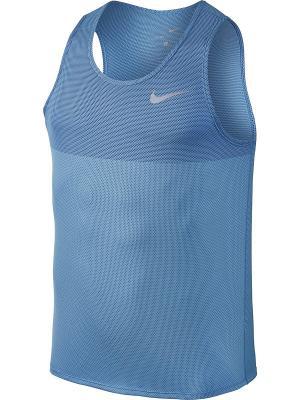 Майка M NK ZNL CL RELAY TANK Nike. Цвет: серо-голубой