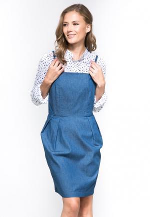 Комплект платье джинсовое и рубашка YuliaSway Yulia'Sway. Цвет: разноцветный