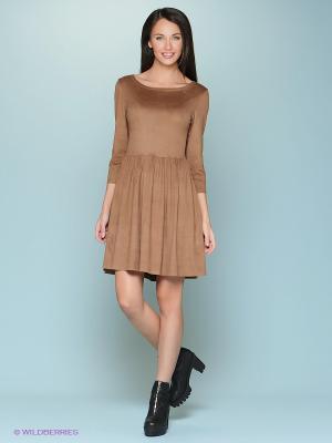 Платье &Berries. Цвет: светло-коричневый