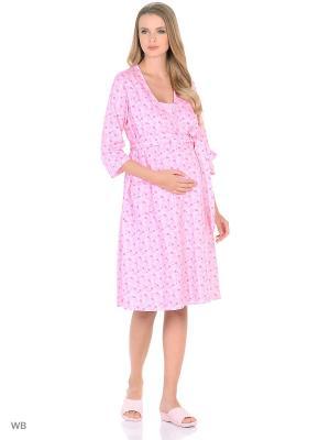 Комлект женский для беременных и кормящих Hunny Mammy. Цвет: розовый