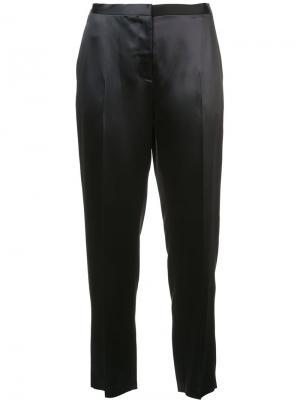 Зауженные укороченные брюки Rosetta Getty. Цвет: чёрный