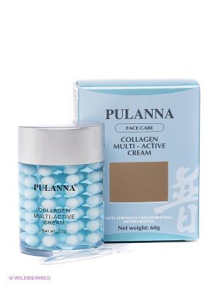 Крем с коллагеном Collagen Multi Active Cream PULANNA. Цвет: голубой