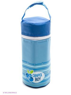 Термосумка для бутылочек мягкая, коллекция ФРУКТЫ Canpol babies. Цвет: синий