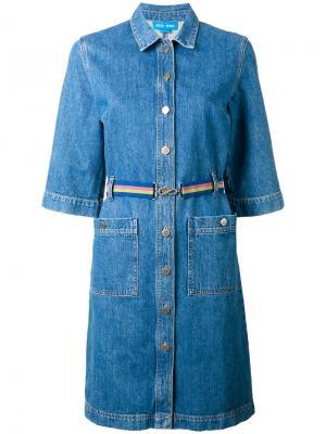 Джинсовое платье-рубашка Mih Jeans. Цвет: синий