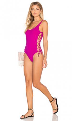 Слитный купальник laura Thapelo. Цвет: фуксия