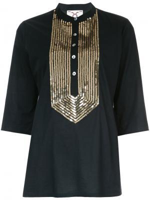 Блузка Jasmine Figue. Цвет: чёрный