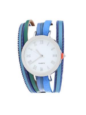 Браслет-часы Olere. Цвет: серебристый, голубой, синий