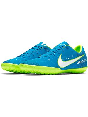 Бутсы MERCURIALX VICTORY VI NJR TF Nike. Цвет: синий, белый