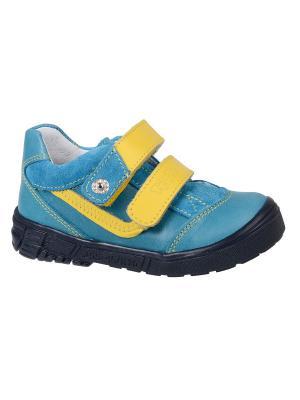 Ботинки Тотто. Цвет: синий, желтый