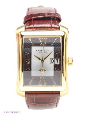 Часы HAAS & Cie. Цвет: темно-коричневый, золотистый, черный