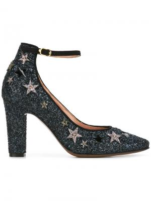 Декорированные туфли-лодочки со звездами LAutre Chose L'Autre. Цвет: синий