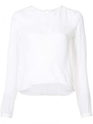 Блузка с манжетами Veronica Beard. Цвет: белый