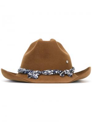 Шляпа Lucky Cowboy Maison Michel. Цвет: коричневый