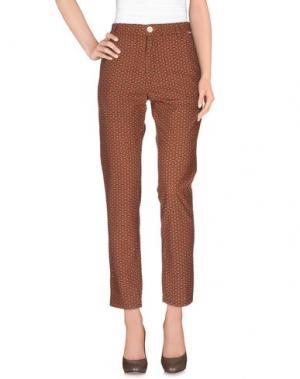 Повседневные брюки BSBEE. Цвет: коричневый