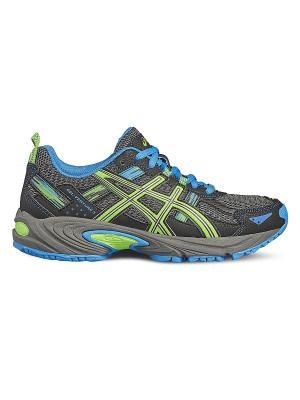 Спортивная обувь GEL-VENTURE 5 GS ASICS. Цвет: светло-зеленый, голубой, серый