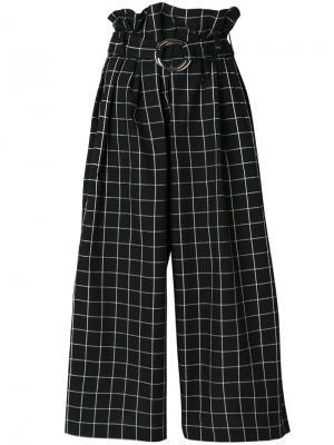 Широкие брюки с поясом Tilly Rejina Pyo. Цвет: чёрный