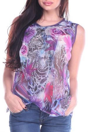 Блуза REBECCA TATTI. Цвет: в цветочный принт