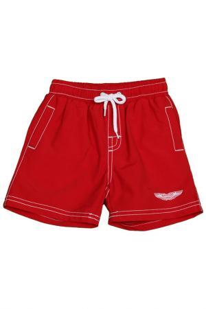 Плавательные шорты ASTON MARTIN. Цвет: красный