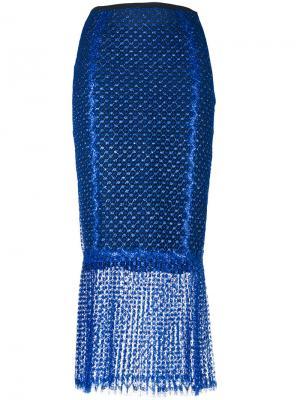 Прозрачная юбка-карандаш Daizy Shely. Цвет: синий