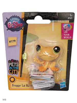 Игрушка Зверюшка Littlest Pet Shop. Цвет: желтый, белый, прозрачный, черный