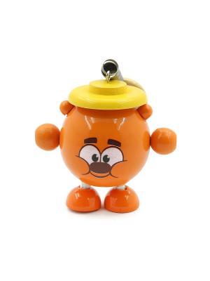 Развивающая игрушка дергунчик Копатыч Игрушки из дерева. Цвет: рыжий