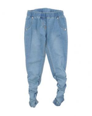 Джинсовые брюки MIRTILLO. Цвет: синий
