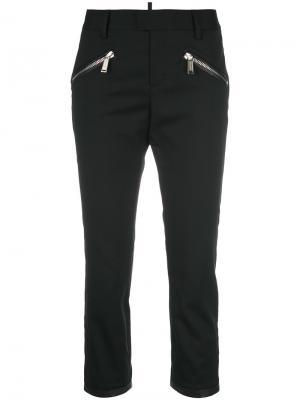 Укороченные брюки с молниями Dsquared2. Цвет: чёрный