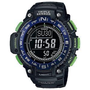 Часы  Collection Sgw-1000-2b Black/Blue Casio G-Shock. Цвет: черный,синий,зеленый