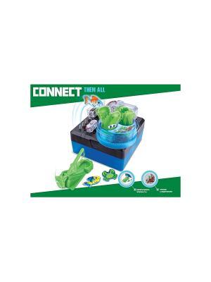 Научный опыт Крокодил со светом, на батарейках, в коробке Amazing Toys. Цвет: зеленый, темно-серый, синий