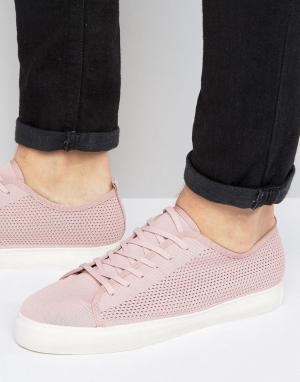 ASOS Розовые сетчатые кеды на шнуровке. Цвет: розовый