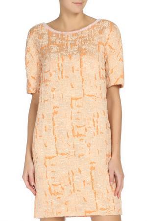 Платье iBLUES. Цвет: оранжевый
