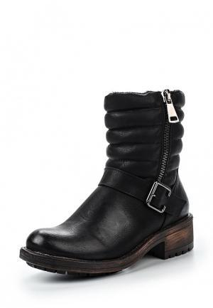 Полусапоги Retro Shoes. Цвет: черный