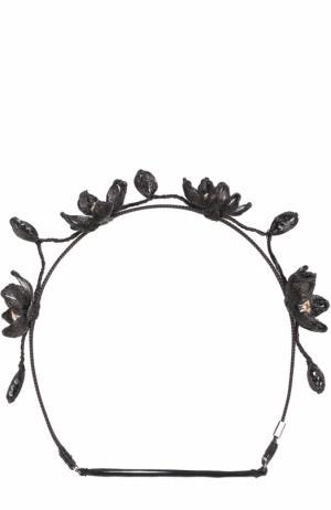 Повязка для волос с декором Colette Malouf. Цвет: черный