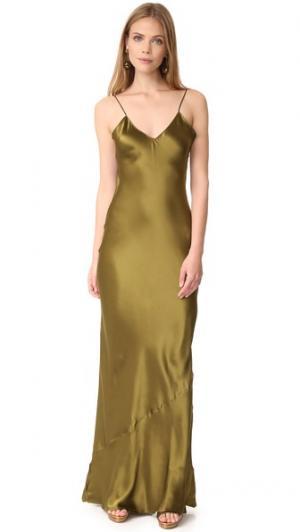 Длинное платье-комбинация Pipa Emerson Thorpe. Цвет: хаки