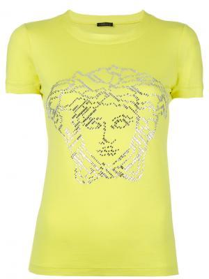 Декорированная футболка Versace. Цвет: зелёный