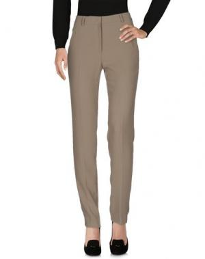 Повседневные брюки FUNNY FACE. Цвет: голубиный серый