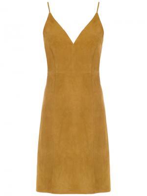 Spaghetti straps dress Osklen. Цвет: коричневый