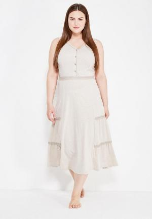 Платье домашнее Лори. Цвет: бежевый